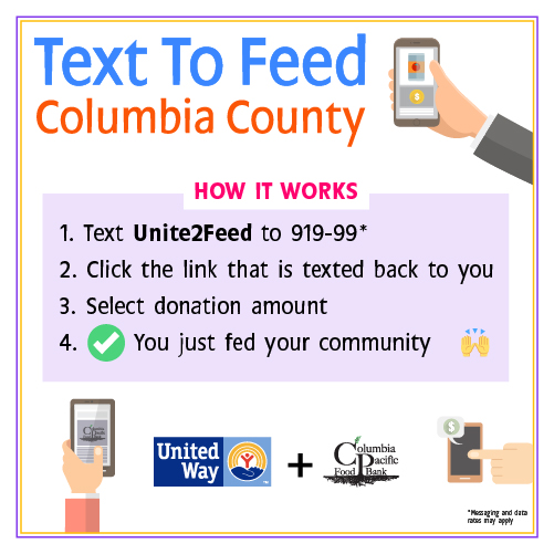 text to feed event 2020 columbia county